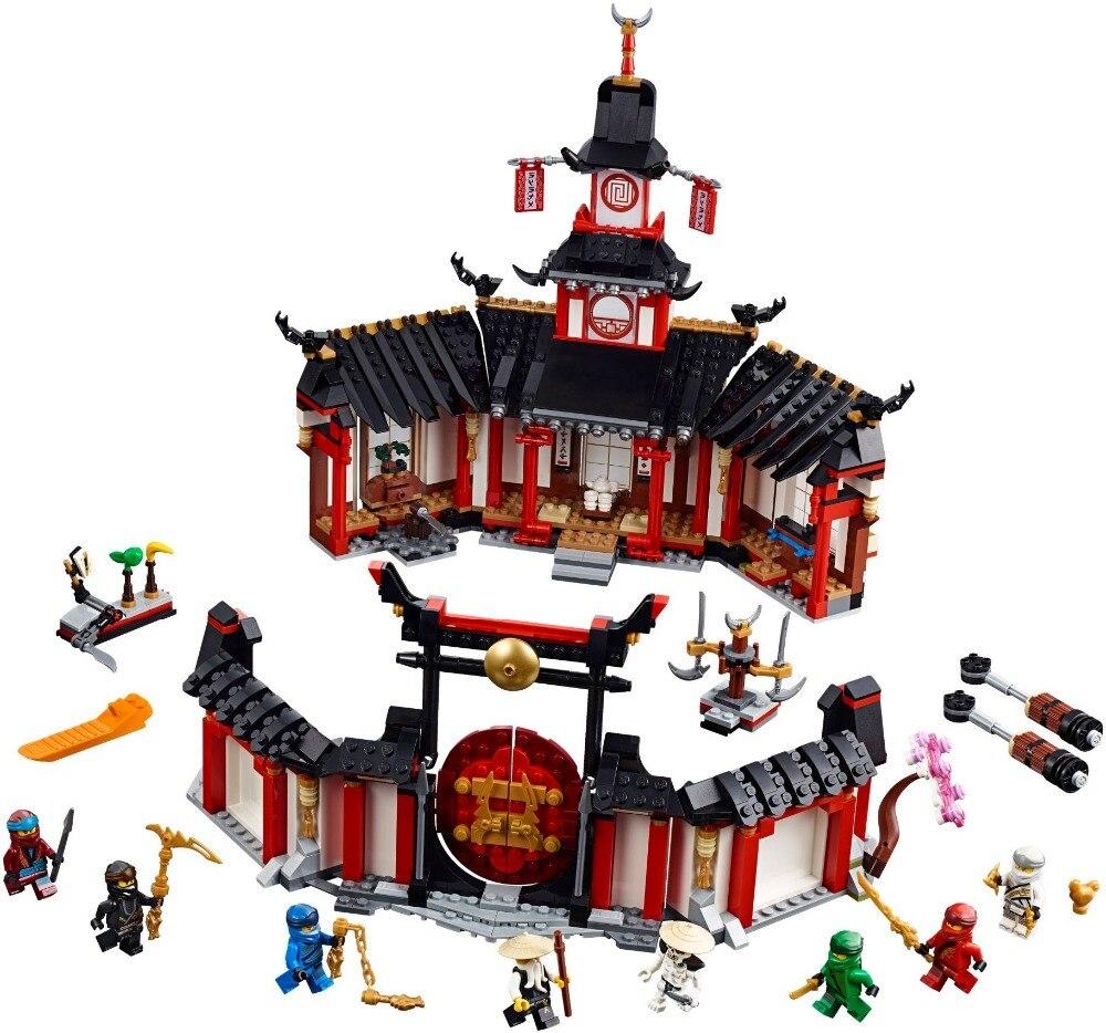 112 pçs mosteiro de spinjitzu blocos de construção kit tijolos clássico filme modelo crianças brinquedos para o presente das crianças 11165