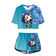 Animal Crossing 3D Pop Summer Soft Shorts And T-shirts Fashion Women Two Piece Sets