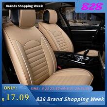 Kkmoon universal 1pc couro do plutônio carro auto assento capa estilo do carro acessórios almofada autocovers com faixa de pneus para carros estilo