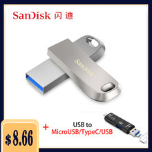 Sandisk – Mini clé USB 3.1, support à mémoire de 16 gb 32gb 64gb 128gb 256GB 128gb, lecteur Flash