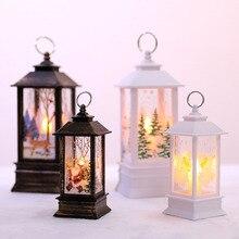 New Year 2020 Christmas Ornament Home Decoration Santa Claus Tree Deco LED Light