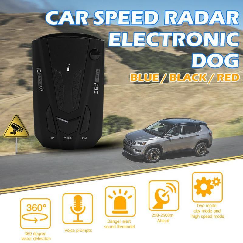 V7 12 в автомобильный радар-детектор английский русский автомобиль авто Цифровой контроль скорости голосовое оповещПредупреждение контроль...