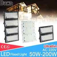 Projecteur LED 50W 100W 150W 200W projecteur ca 220V 240V LED lampadaire étanche IP65 éclairage extérieur LED projecteur cob