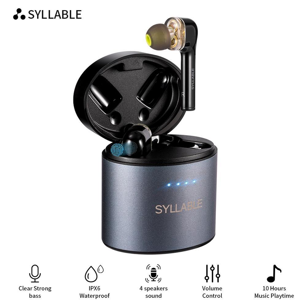 Беспроводные наушники SYLLABLE S119, наушники с поддержкой bluetooth 5,0, с шумоподавлением, с двойным динамическим Драйвером