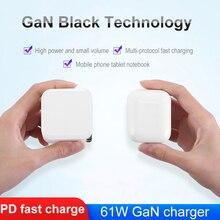 LLANO QC PD chargeur 61W QC4.0 QC3.0 USB Type C chargeur rapide pour iPhone 11 X Xs Xiaomi téléphone Charge rapide 4.0 3.0 GaN PD chargeur