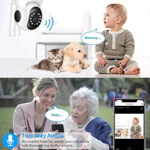 Hiseeu 1536P 1080P IP Camera WIFI Wireless Smart Home Security Camera Surveillance 2-Way Audio CCTV Pet Camera 720P Baby Monitor 5
