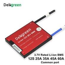 12S 20A 30A 40A 50A 60A 36V PCM/PCB/BMS общий порт для 3,7 V LiNCM батарейный блок 18650 литий ионный аккумулятор с балансом