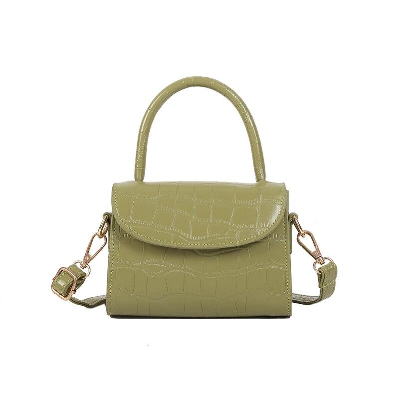 Casual ladies handbag high quality shoulder bag solid color leather luxury casual 2019 ne