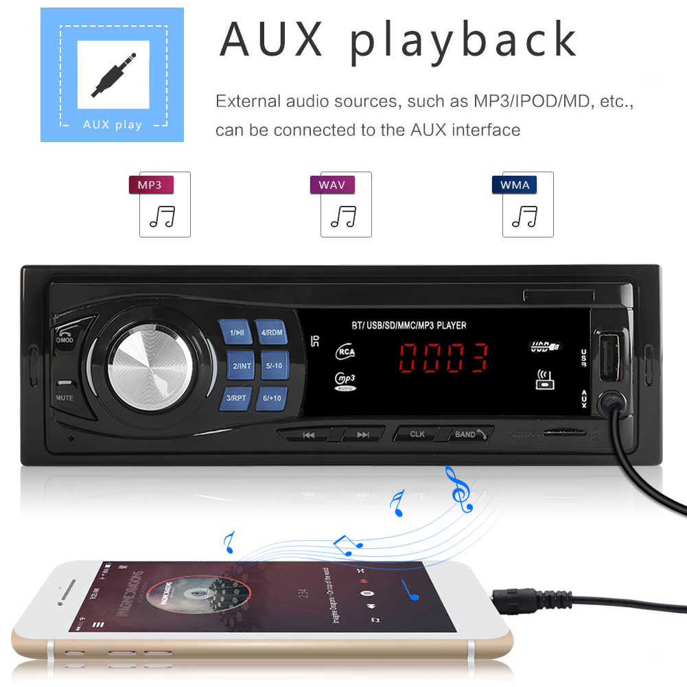 SWM 8013 1DIN Auto Radio 12v bluetooth V 2,0 FM Aux Eingang Empfänger Autoradio TF SD USB MP3 Player multimedia auto Stereo