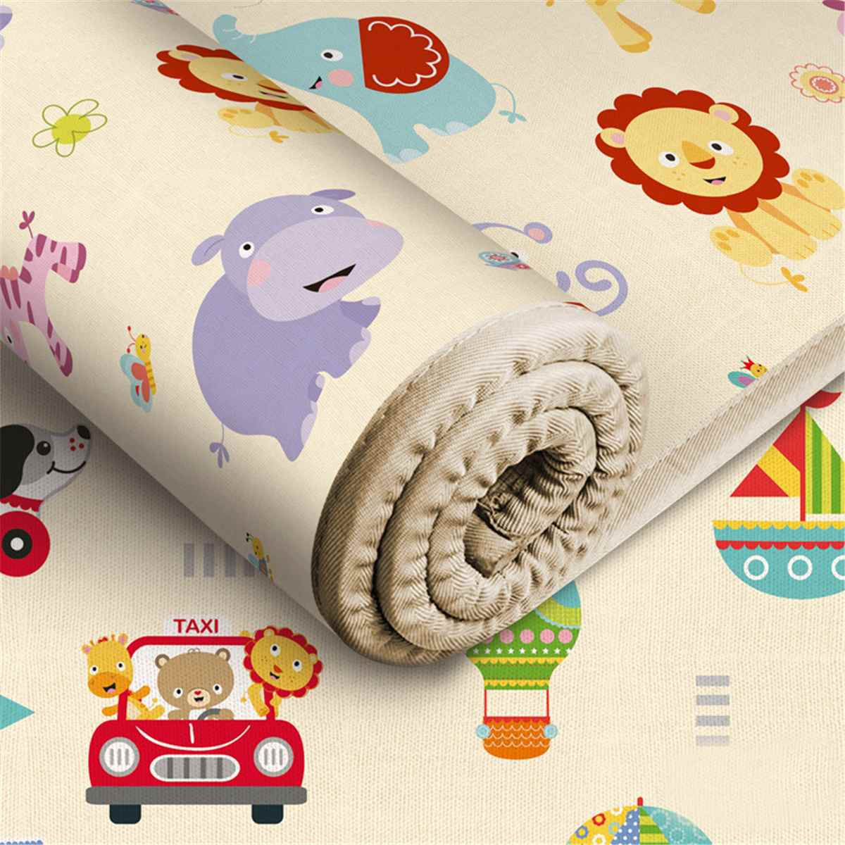 Folding Cartoon Play Mat Baby Toddler Crawling Mat Climbing Pad Crawl Pad Infant Carpet Educational Children Game Pad 180x200cm