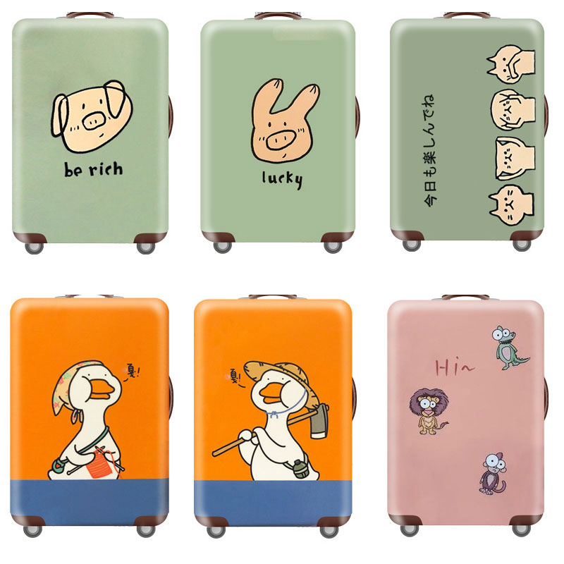 Couple Animals Series Luggage Protective Cover Men's Women's Elastic Suitcase Travel Case Famale Trolley Dust Rain Bags Accessor