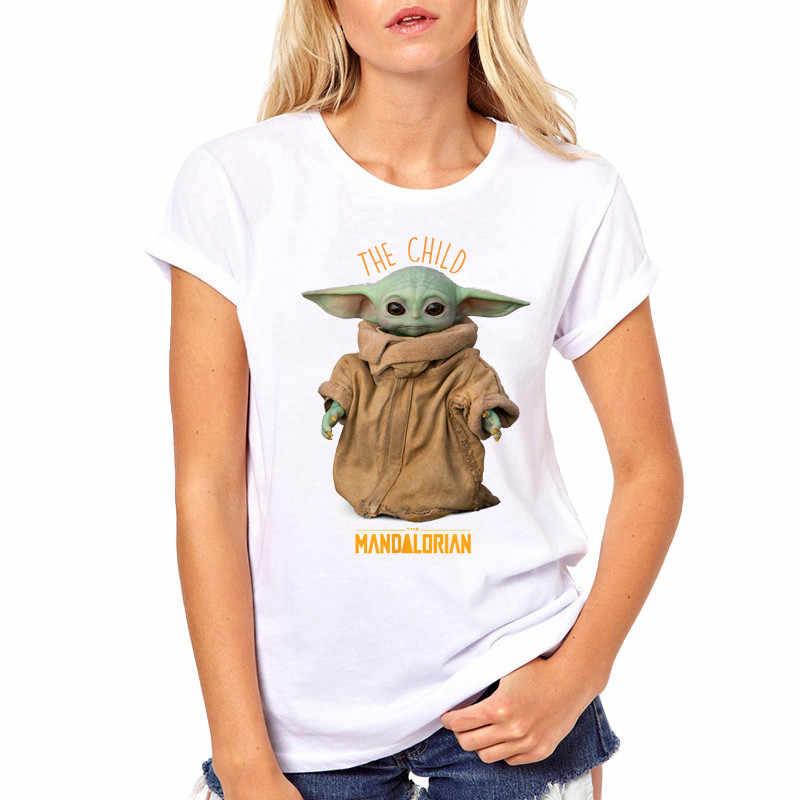 뜨거운 판매 아기 Yoda 여자 티셔츠 패션 아이 Mandalorian 인쇄 된 T 셔츠 반팔 티셔츠 멋진 탑스