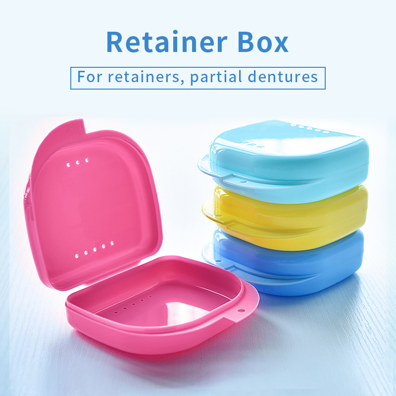 2018 New Arrival Y-Kelin Dental Retainer Denture Storage Box Partial Denture Case Orthodontic Small Teeth Box PP Box