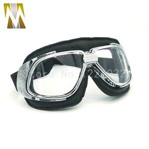 Мотоциклетные очки в стиле стимпанк, полумотоциклетный шлем, очки для полетов, очки на шлем, байкерские очки, дымчатые линзы