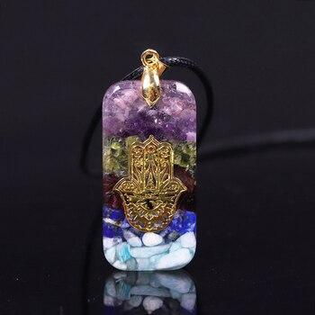 Ενεργειακό Κρεμαστό Κολιέ Μενταγιόν Οργονίτης Πολύτιμοι Λίθοι Κρύσταλλα Ανδρικό Γυναικείο Κόσμημα