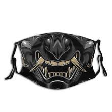 Oni japão samurai demônio reutilizável máscara facial anti haze dustproof máscara com filtros capa de proteção respirador boca muffle
