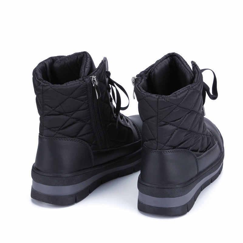 BUFFIE bayan kış moda 2018 kar botları pamuk çizmeler kadın yardımcı olmak için düşük sıcak ayakkabı platformu su geçirmez kadın botları JSH-A962