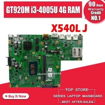 X540LJ carte mère D'ordinateur Portable pour ASUS VivoBook X540LJ X540LA F540L A540L carte mère d'origine 4G-RAM I3-4005U GT920M