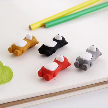 1pc Creative Cartoon Standing Ignorant Force Bear Bear Eraser Pencil Eraser Student Stationery Eraser Wholesale image