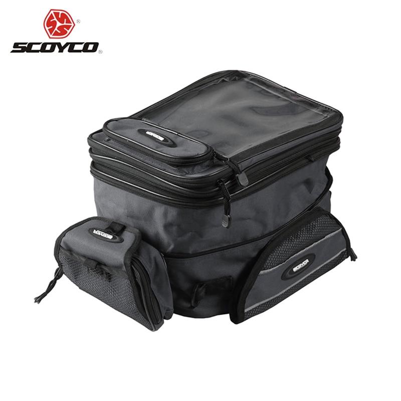 Scoyco 100% original universal motocicleta motorcross saco de tanque de óleo à prova dwaterproof água saco de bagagem moto saco de tanque de combustível magnético
