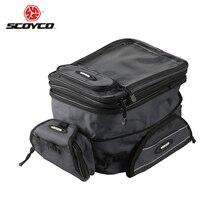 SCOYCO 100% orijinal evrensel motosiklet motokros yağ tankı çantası su geçirmez bagaj çantası motosiklet manyetik çanta yakıt tankı çantası