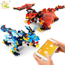 410 pièces Ninja foudre guerre Dragon Knight électrique télécommande blocs de construction Legoing technique mobile RC briques jouets enfants(China)
