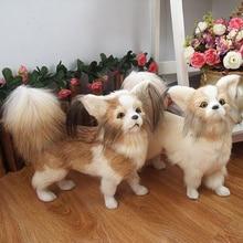 Имитация собаки, кожа, шерсть, Имитация животных, Бабочка, собака, милая Реалистичная собака, украшение для дома, праздничный реквизит, подарки для детей
