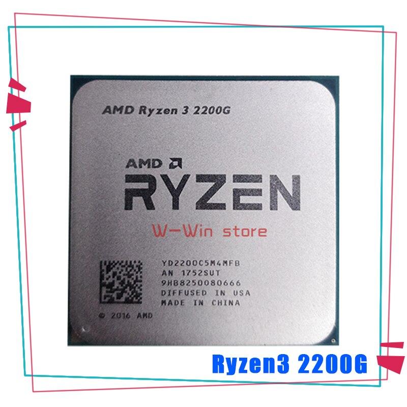Четырехъядерный процессор AMD Ryzen 3 2200G R3 2200G 3,5 ГГц 65 Вт YD2200C5M4MFB разъем AM4