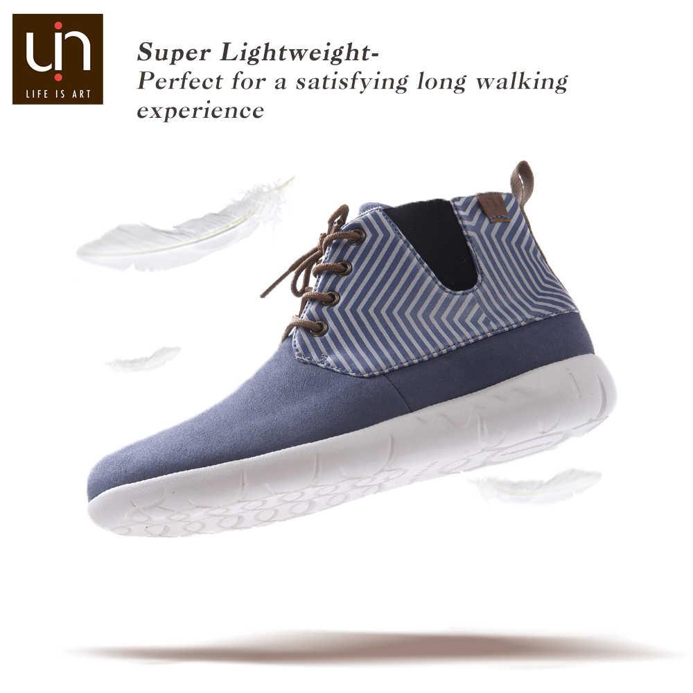 UIN Perth serisi sonbahar/kış çizmeler kadın mikrofiber süet yarım çizmeler beyaz/mavi bayanlar rahat düz ayakkabı açık moda çizmeler