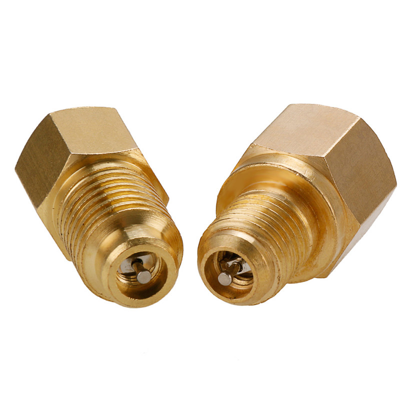 1pc R12 to R134a Adapter 1//4/'/' Female Flare with O-Ring X 1//2 Acme Male Golden