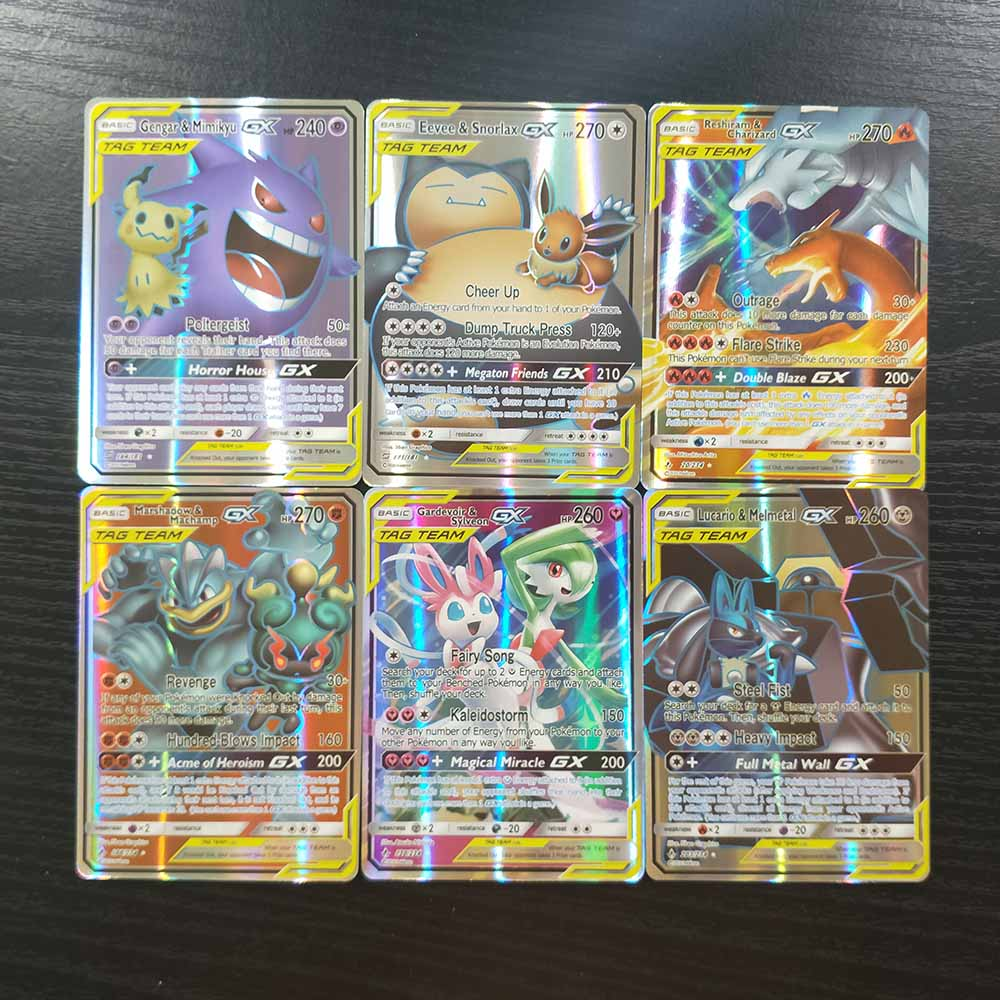 TAKARA TOMY Pokemon Cards Collections 120 Flash Cards GX Shining Card Board Game Children Toy Christmas Gifts Table Battle TCG