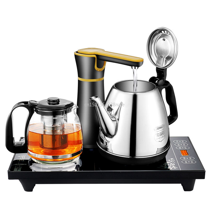 Double Electric Kettles Household Insulated Tea Pot Set With Induction Cooker Stainless Steel Safety Auto-off Function 1.0L 220V