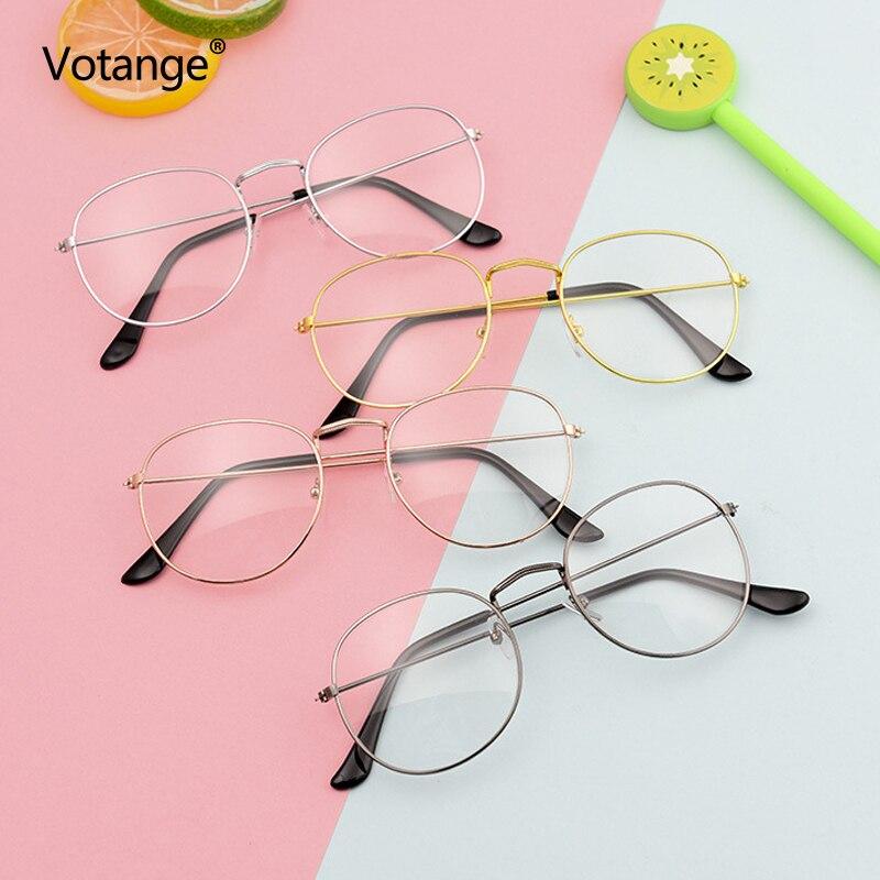 Women Retro Vintage Round Nerd Glasses Clear Lens Fake Eyeglasses Eyewear Frame