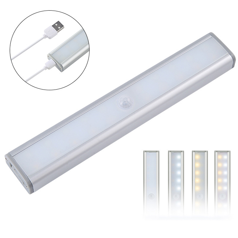 New 20 LED Motion Sensor Closet Light Dimmable Wireless Lights For Cabinet Stair Hallway XOA88