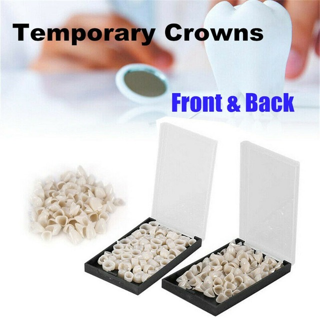 120Pcs Posterior Anterior Teeth Crown Oral Care Dental Temporary Resin Tooth Crown Teeth Whitening Dentistry Lab Material Tools