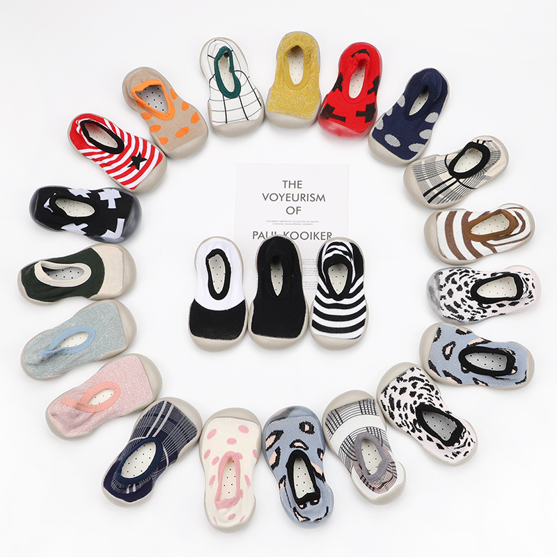 Baby Shoe Breathable Antiskid First Walkers Spring Leopard Print Newborn Rubber Sole Shoes Baby Cartoon Toddler Shoe