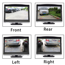 2020 new style rear side view camera with 5 inch screen view