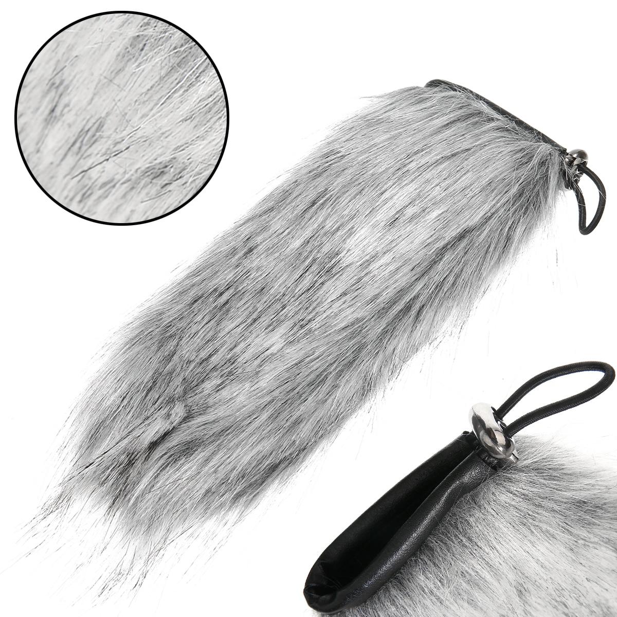 Mayitr 1pc housse de Microphone fourrure artificielle vent réduction de bruit micro pare-brise pour micro Audio