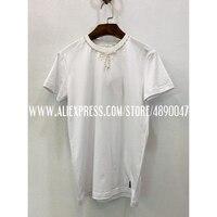 New 2020 T Shirts Women's Short Sleeve Tops Manual bow beading T Shirts Fashion Casual 100%cotton T Shirts