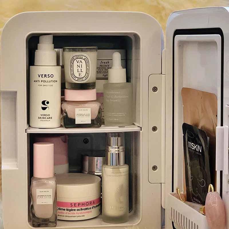 Mini Fridge Magnet Souvenir For Skincare Organizer And Car Fridge Decor Storage  Cooler Fridge For Makeup Cosmetics