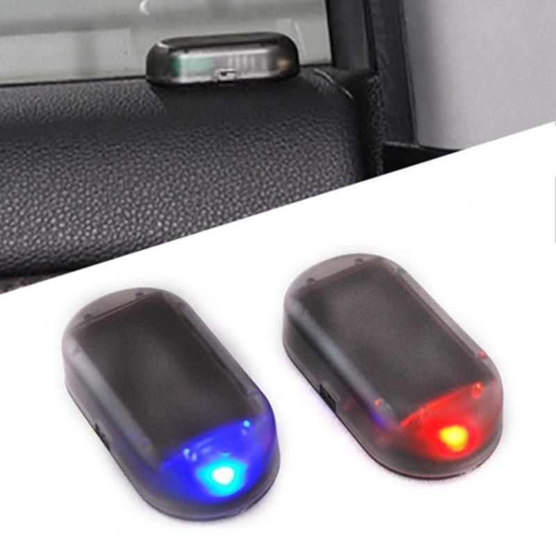 אוניברסלי רכב שמש כוח מעורר מנורת אבטחת מערכת לוח המחוונים אזהרת מחוון גניבה פלאש מהבהב נגד גניבה זהירות LED