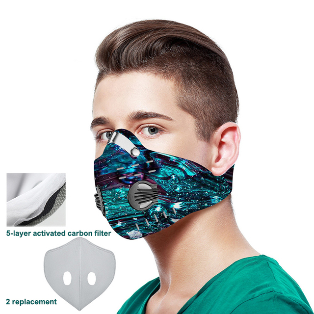 3D printing Mouth-muffle Face Mask Breathing Anti-dust PM 2.5 Dustproof Mask With Activated Carbon Filter Reusable Mouth Mask 2
