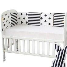 6 шт. детский бампер с принтом для детской кроватки, хлопковый декор для детской комнаты, защита для детской кроватки, бампер для детской кроватки, бамперы для новорожденных, детские постельные принадлежности