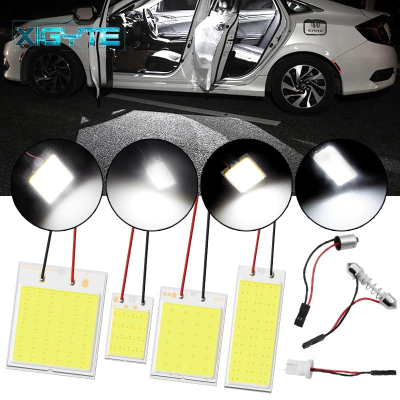 1Set Car Styling T10 Cob 24 36 48 SMD Car Led Vehicle Panel Lamps Auto Interior Reading Lamp Bulb Light Dome Festoon BA9S DC 12V