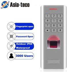 Samodzielny czytnik linii papilarnych klawiatura czytnik kontroli dostępu do drzwi antywłamaniowe system blokady otwieracz bramy IP66 1000 użytkowników