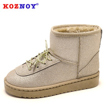 цены Koznoy Snow Boots Women Short Boots Students Dropshipping Fashion Winter Flat Bottomed Cotton Shoes Plus Velvet Warm Boots