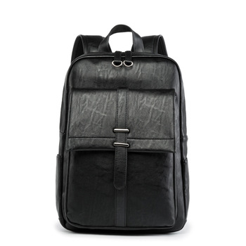 Weysfor Men Leather Backpack School Backpacks Bag Fashion Waterproof Laptop Backpack Travel Bag Casual Leather Book Bag Male weysfor vogue pu backpack men women male school backpack mochilas school leather business bag large laptop shopping travel bags
