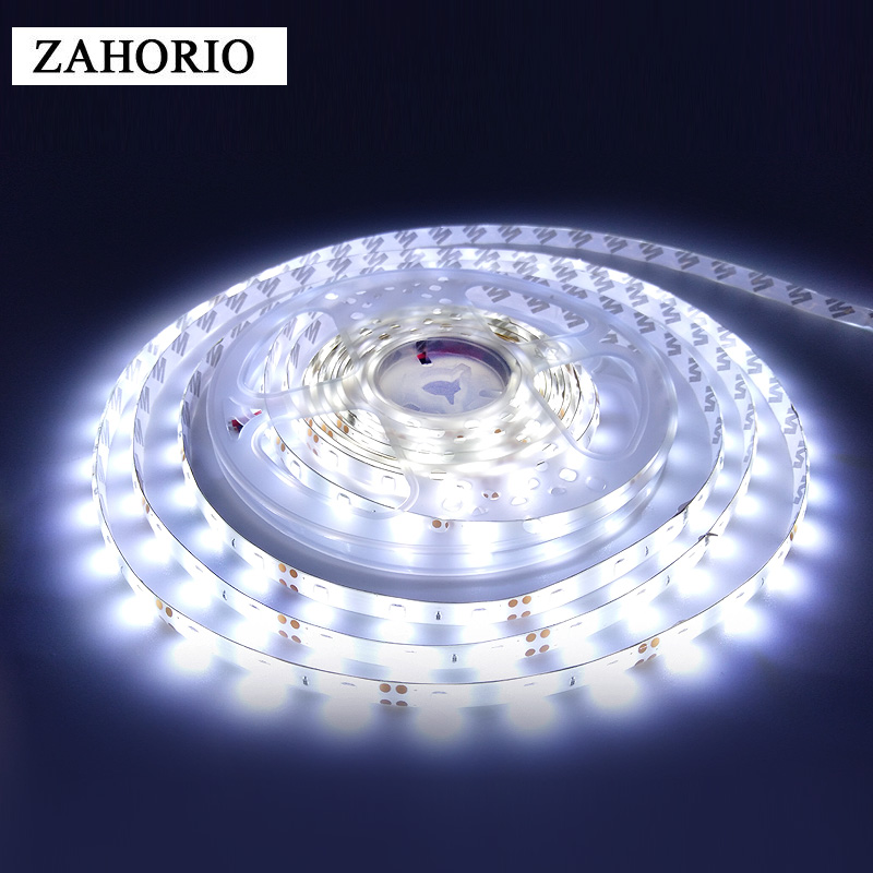 5M 300 LED LED Strip 2835 Waterproof DC12V 60LEDs/m Flexible Ribbon Tape LED Light Cold White/Warm White/Ice Blue/Red/Green/blue
