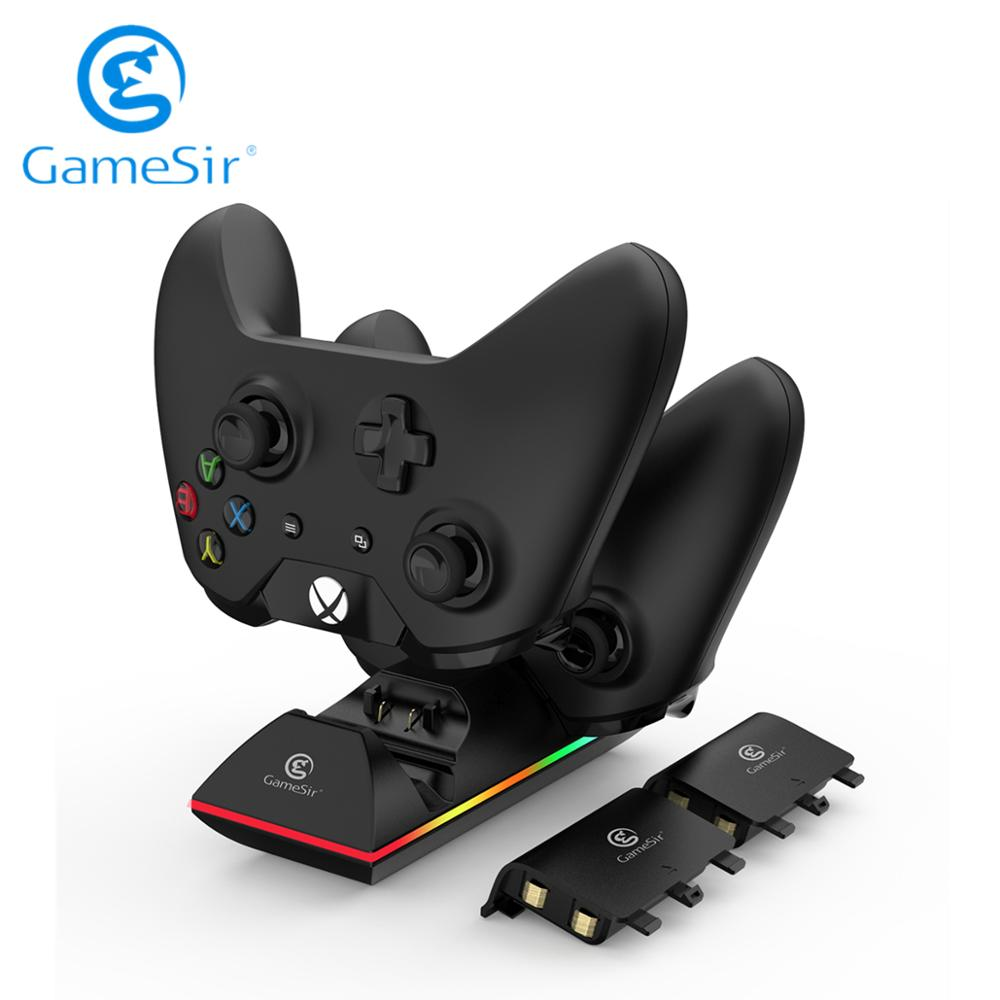 GameSir Dual Controller Charger Charging Station Dock for Xbox One Controller with two 800mAh Rechargeable Batteries ENW60X611|Gamepads| - AliExpress