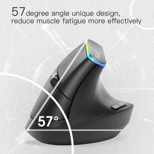 Image 3 - Delux M618C souris sans fil ergonomique verticale 6 boutons souris de jeu rvb 1600 DPI souris optique avec pour ordinateur portable